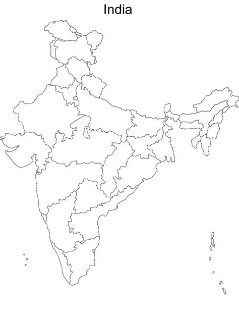 Outline Map Of India by Devices Biotechnology Bioengineering And The Like