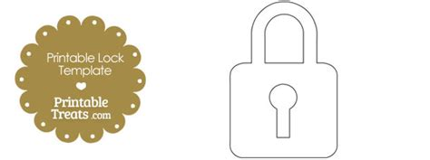 Printable Lock Templates printable lock shape template