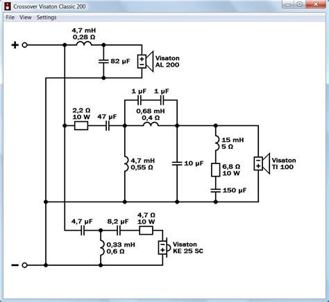 3 way speaker crossover wiring diagram get free image