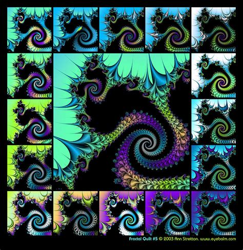 Fractal Quilt by Fractal Quilt 5 Digital By Stretton
