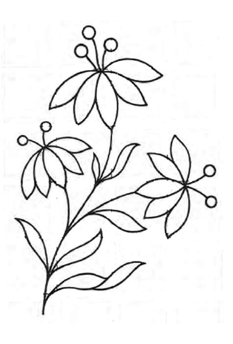 Easy Floral Designs | royce s hub free embroidery pattern a simple floral design