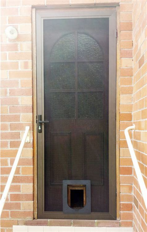 Secure Doggie Door by Stainless Screen Security Door With Pet Door
