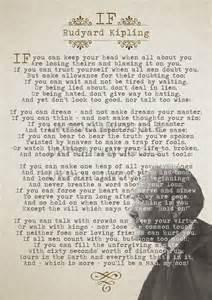 If by rudyard kipling wall art poetry art poem poster if quote