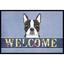 boston terrier doormat door mats free shipping wayfair