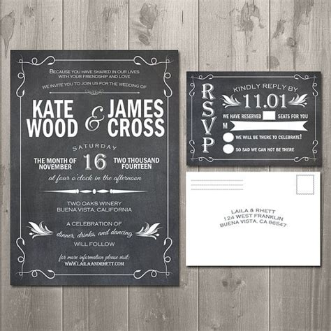 diy chalkboard wedding invitations 21 best images about wedding invitations on