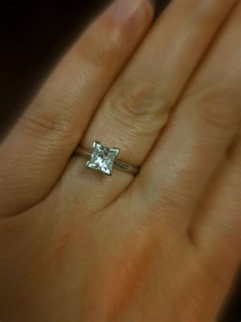 Classic 1.02 Carat Princess Cut Solitaire   I Do Now I Don't