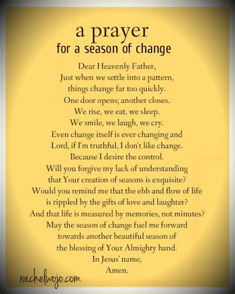 a prayer for a season of change beautiful prayers your