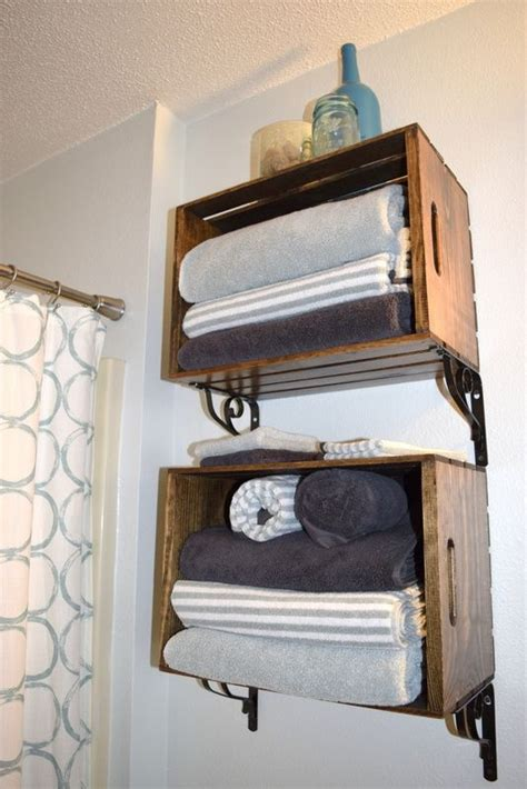 bathroom shelving ideas for towels 15 comfy ideas to store towels in your bathroom shelterness