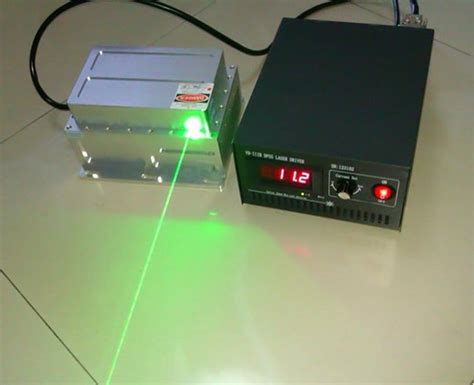 532nm 5w green laser module automatic refrigeration high power dpss laser with power supply