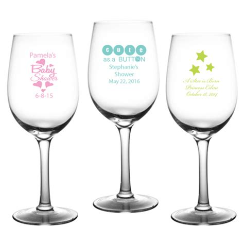 baby shower personalized wine glass personalized baby wine glass baby shower glass and