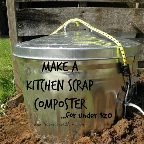 make my kitchen diy simple kitchen scrap composter preparednessmama