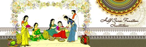 Gifts For Housewarming by Saree Ceremony Invitation All Invitations Telugu