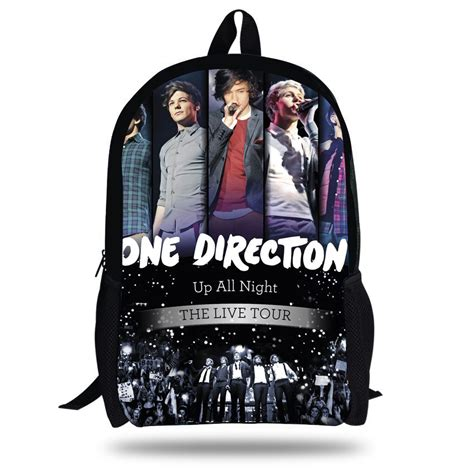 16 inch 1d one direction bag school children fashion one direction backpack boys age
