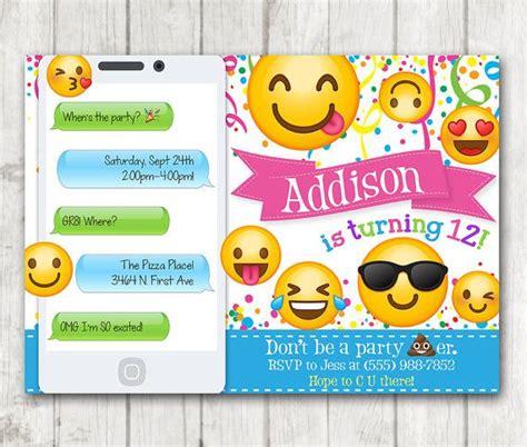 printable iphone emojis printable emoji birthday party invitation emoji
