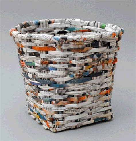 recycled newspaper recycled waste basket recycling center