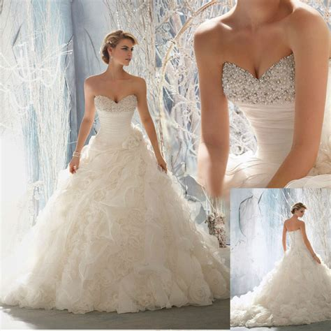 strapless ball gown wedding dresses with sweetheart
