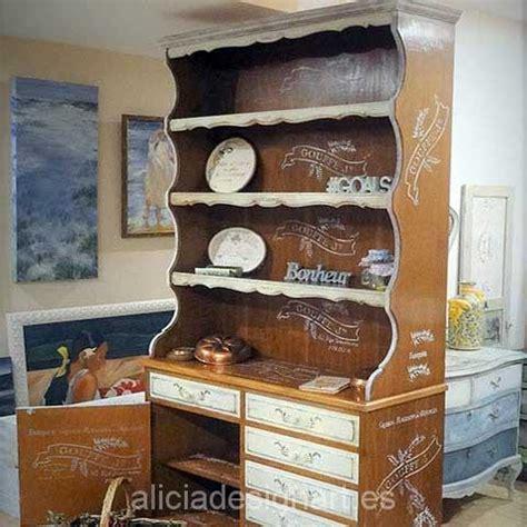 alacena vintage restaurada alacena vintage decorada roble blanca shabby chic alicia