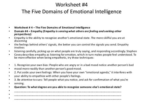 emotional intelligence worksheets emotion regulation worksheet worksheets for school getadating