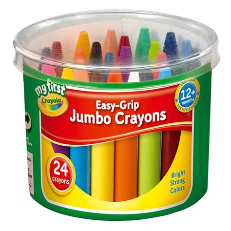 crayons for bathtub crayola my first 24 easy grip jumbo crayons in a tub