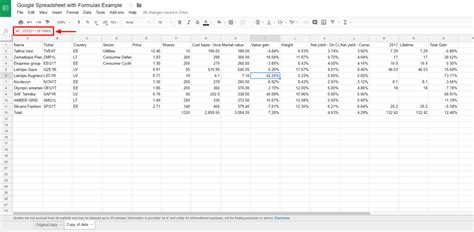 Spreadsheet Formulas Start With by Creating Tables In From Spreadsheets With