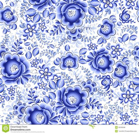china blue pattern vector blue floral textile vector seamless pattern stock vector