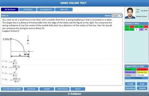 test on line test system on website