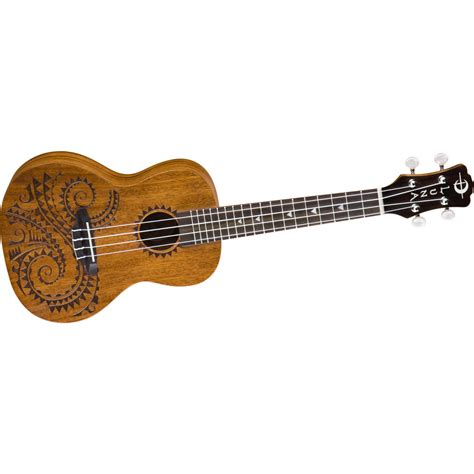 luna guitars tattoo concert mahogany ukulele music123