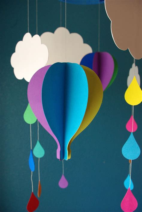 Up Up Away Happiness Is Homemade Air Balloon Mobile Template