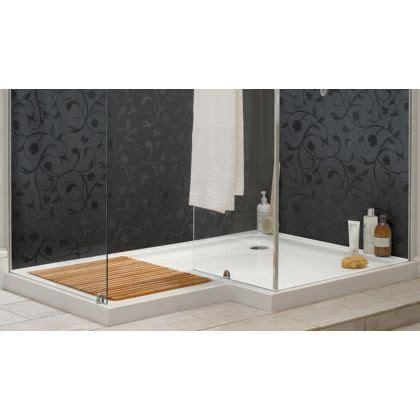 aqualux sapphire  shape shower tray lh shower tray