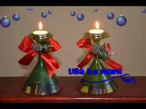 porta candele natalizie fai da te tutorial porta candele natalizio fai da te candleholder