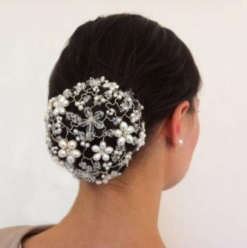 Hair Accessories Bun Cover by Jewelled Bun Cover Pearl And Wedding Hair