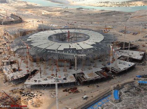 ferrari building ferrari theme park building complete aldar team bhp