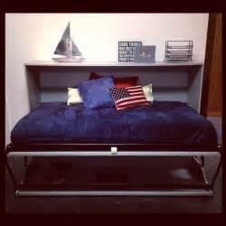 size horizontal murphy wall bed with desk for boys