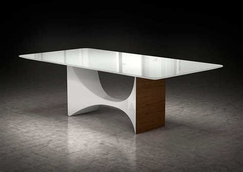 Modern White Glass Dining Table White Glass Top Dining Table Ml Clarence Modern Dining