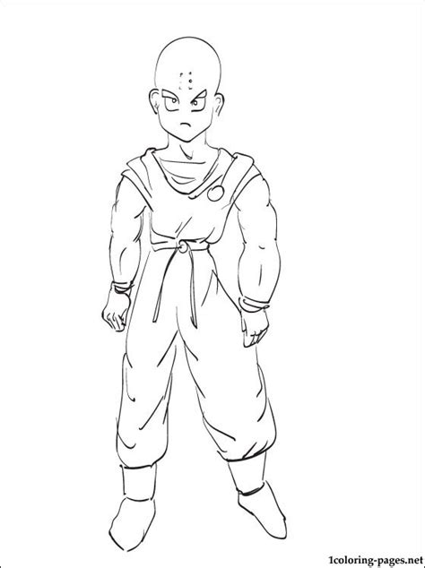 Krillin Dragon Ball coloring page | Coloring pages