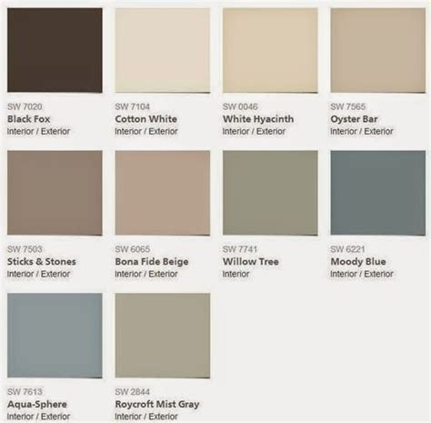ace royal paint color chart
