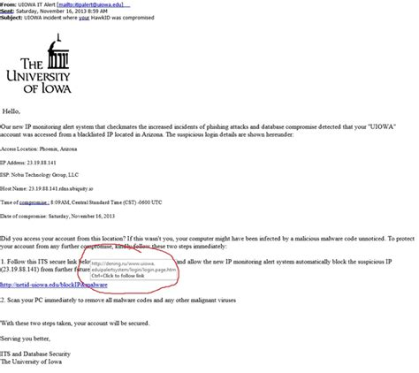 email edu fraudulent emails claiming to be from university