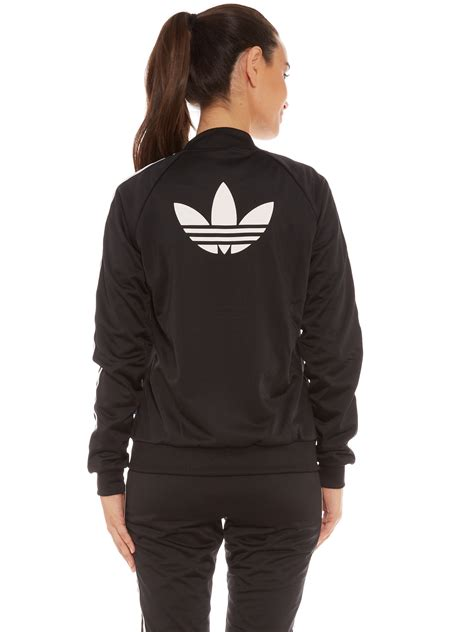 Jaket Adidas adidas supergirl zip through track jacket in black