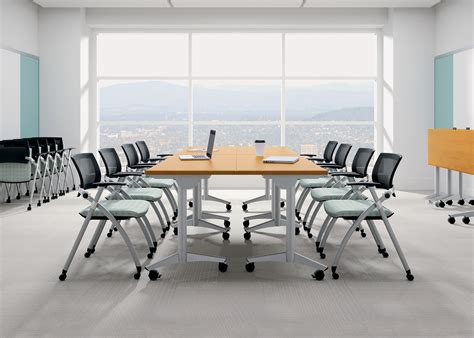 National Waveworks Conference Table 100 Conference Room High Rolling Table Technical Lab Furniture Sit Stand Adjustable Heavy