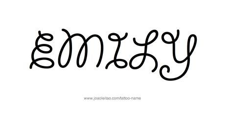 tattoo font emily emily name tattoo designs