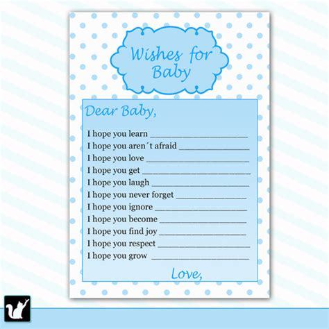 baby shower wish list template wishes for baby card new baby messages blue baby wishes