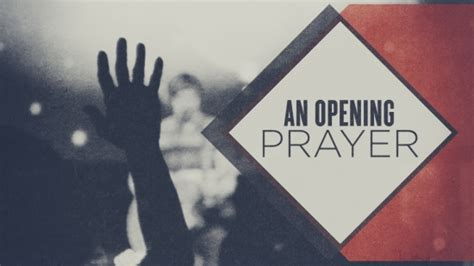 prayer for opening a church meeting
