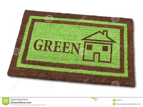 Green Welcome Mat by Green Home Welcome Mat Sustainable Royalty Free Stock