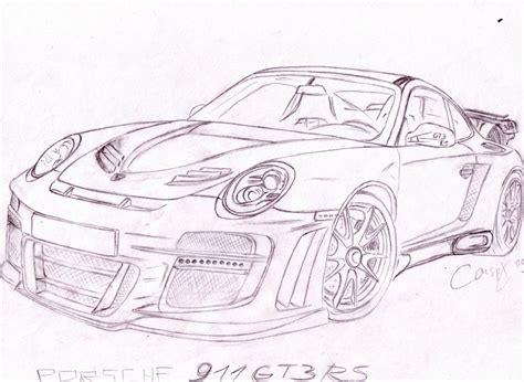 Porsche 911 Sketches by Porsche 911 Gt3 Rs Sketch By Conspx On Deviantart