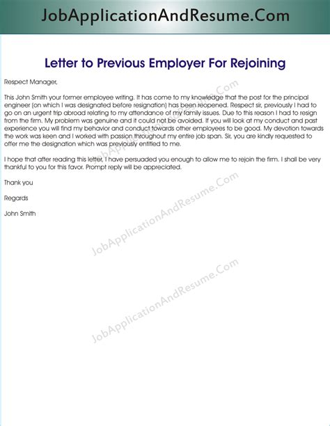 cover letter to former employer sle letter to rejoin the jaar hunters