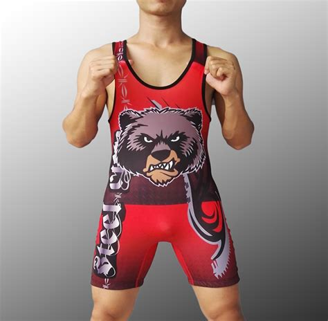 Kaos Singlet Onepiece mens steel city wolf tight suit one singlet weight lifting workout