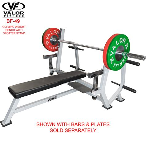 bench with spotter bf 49 olympic weight bench with spotter stand valor