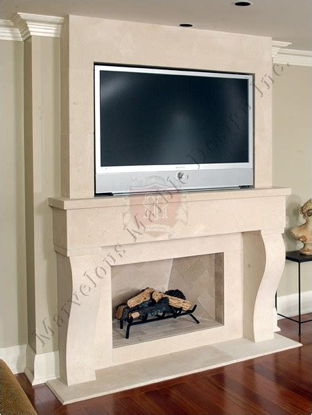 fireplace mantel with tv new york marvelous marble