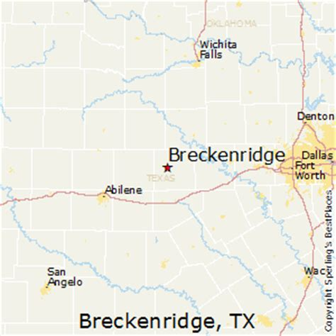 breckenridge texas map best places to live in breckenridge texas