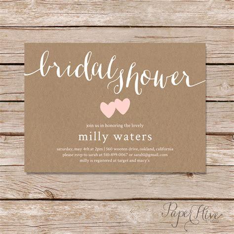 rustic bridal shower invitation bridal shower invitation